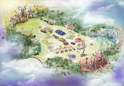 Festival map - Dreamfields Mexico 2019
