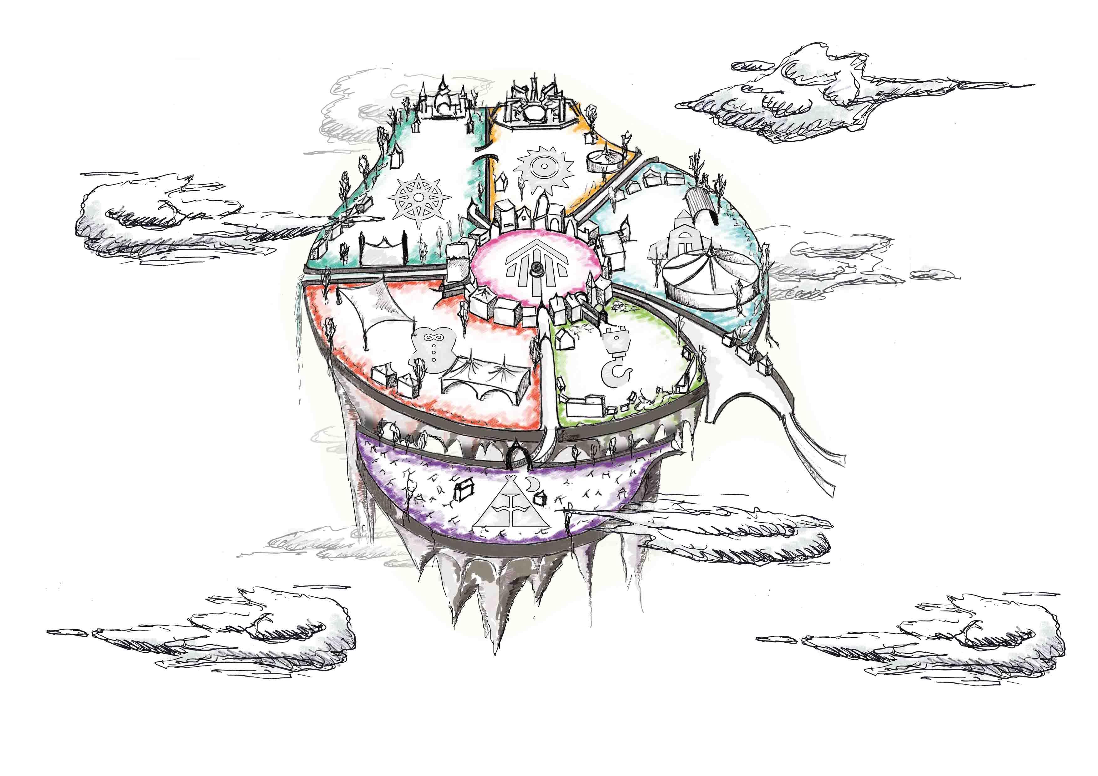 Illustrative festival map - Dream Village 2018