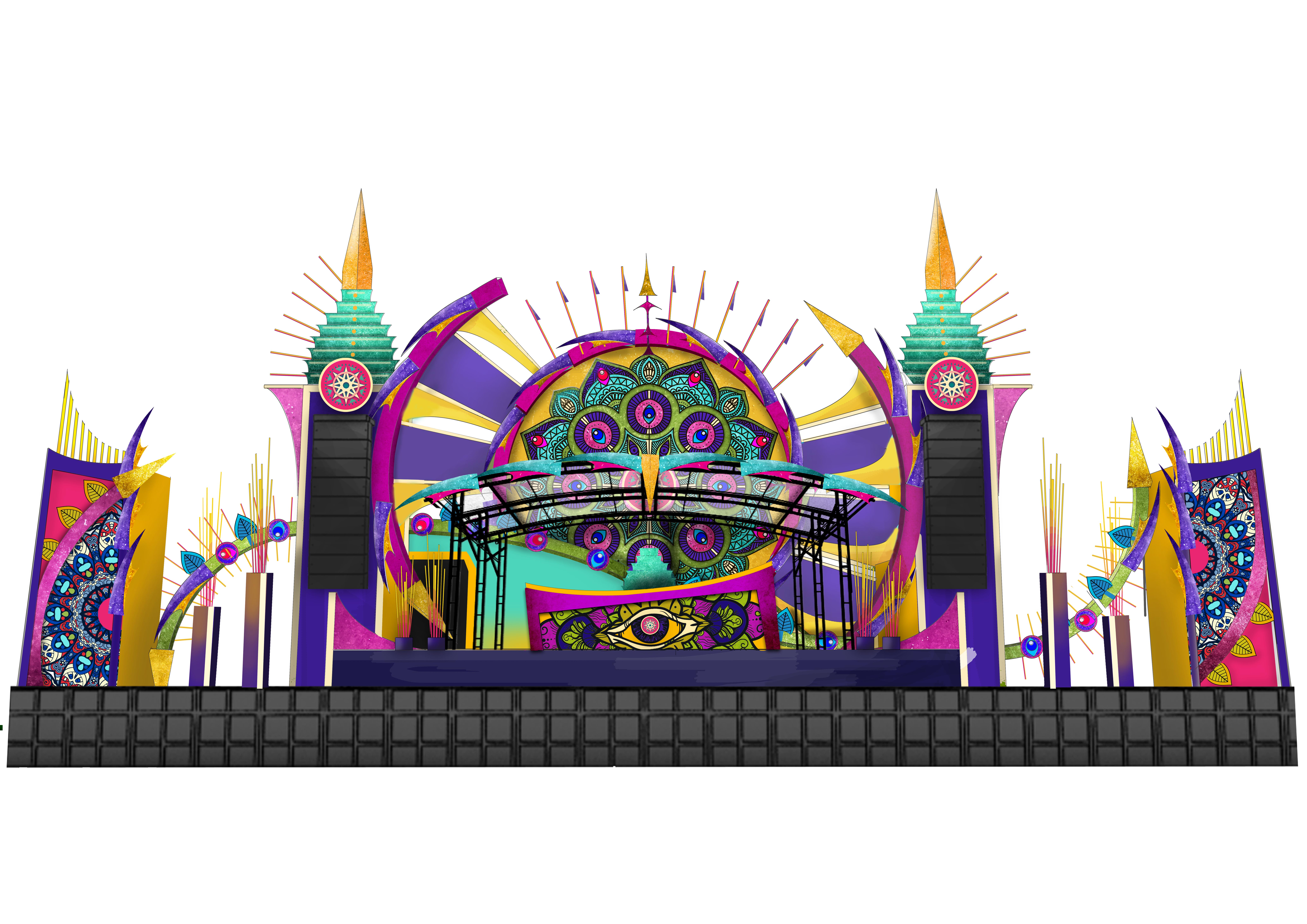 Dreamvillage 2019 – Eclectic stage design