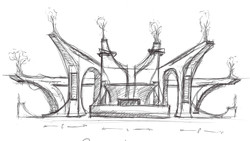 First idea fast sketched on paper – commissioned by Stagekings & Open Beatz Festival