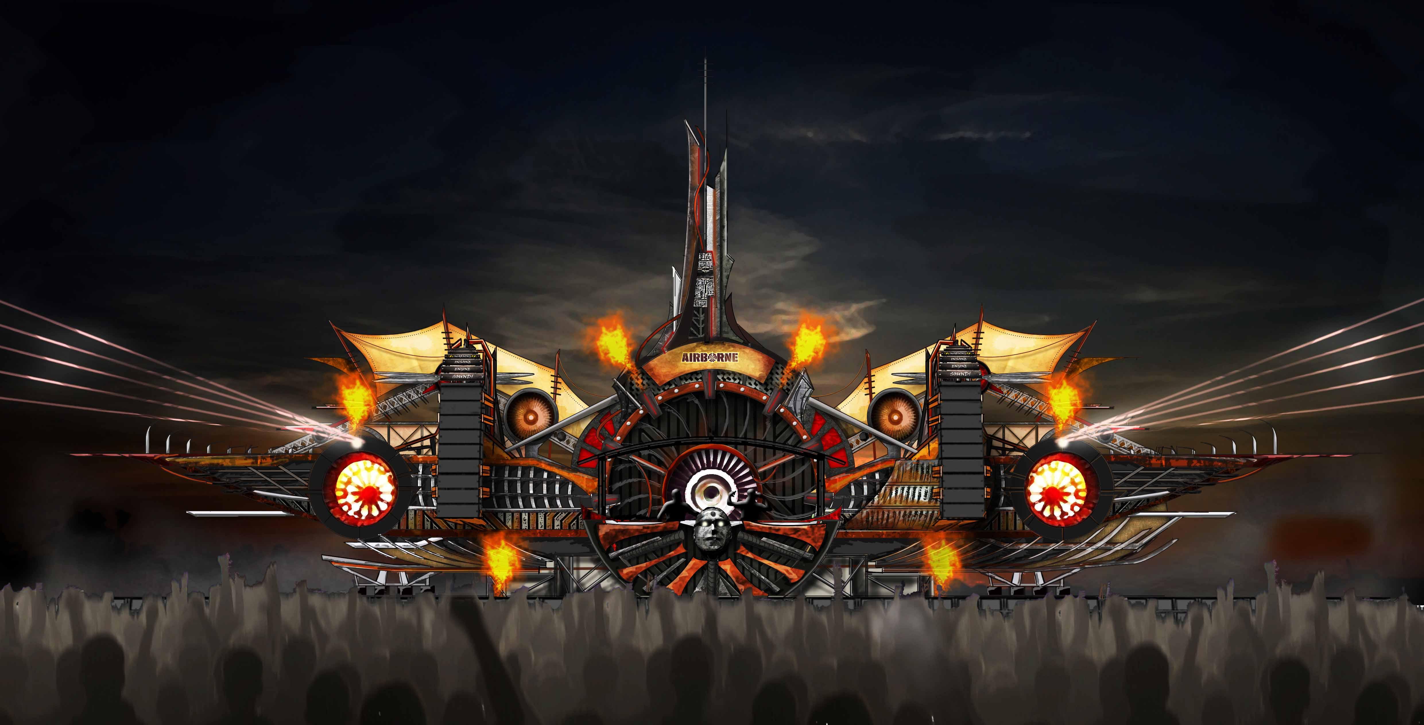 Airborne festival 2019 - Mainstage design