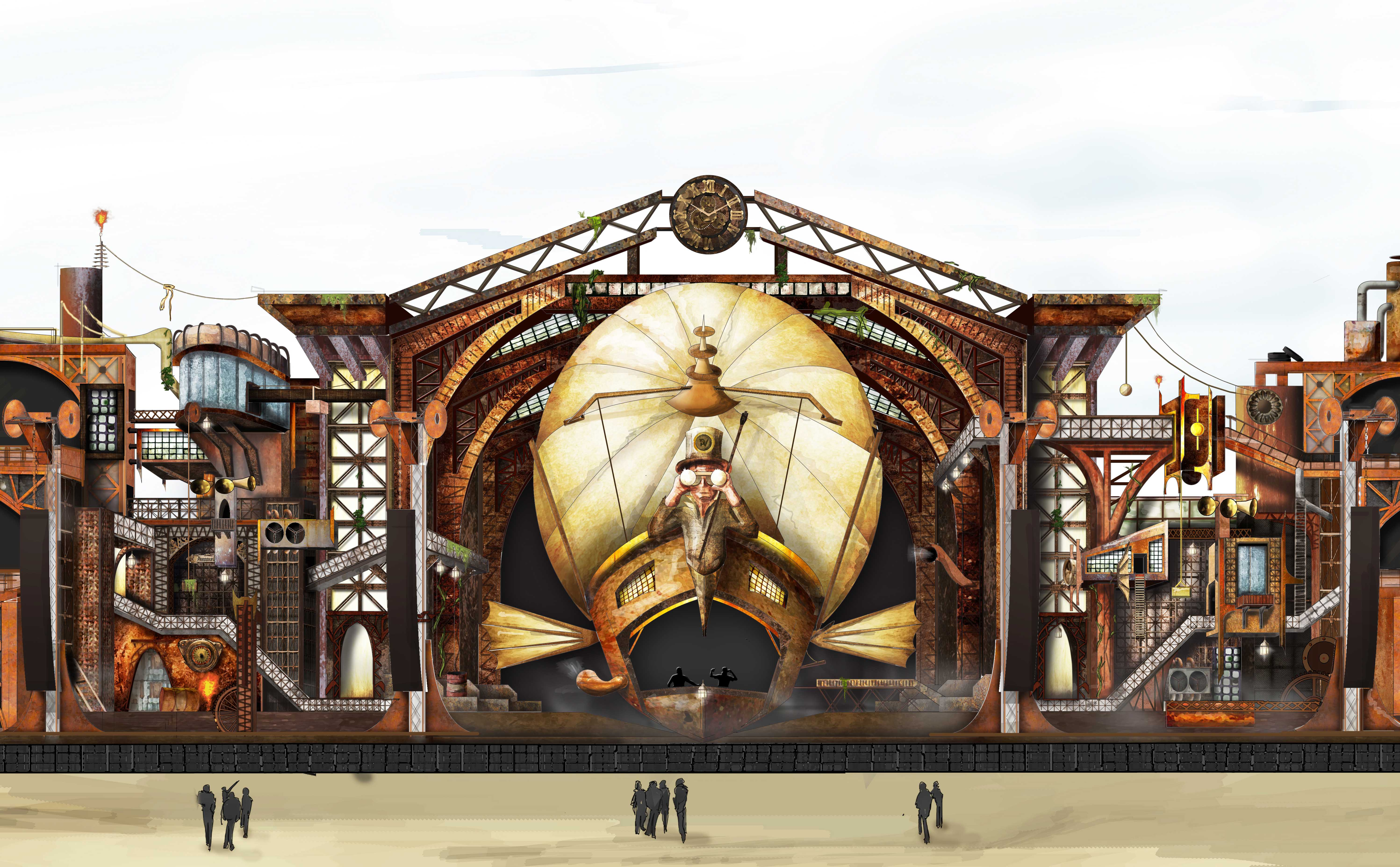 Parookaville Concept stage design