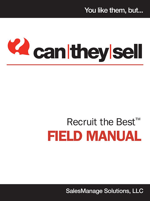 Can  They Sell Field Manual - SalesPerson