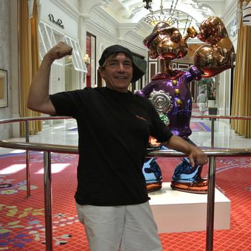 With Popeye at the Winn, Vegas