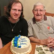 My boy Anthony & my dad, Pops_