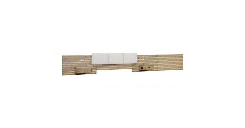 8441 - King Headboard/Nightstands Wall Unit