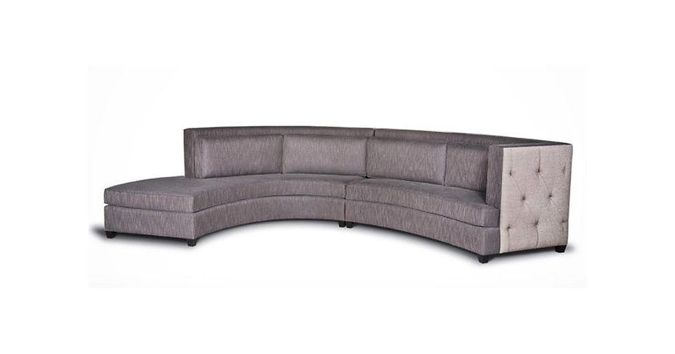 8565 - Curved Fully Upholstered Sectional