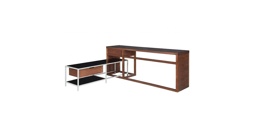 7979 - Desk with Side Table