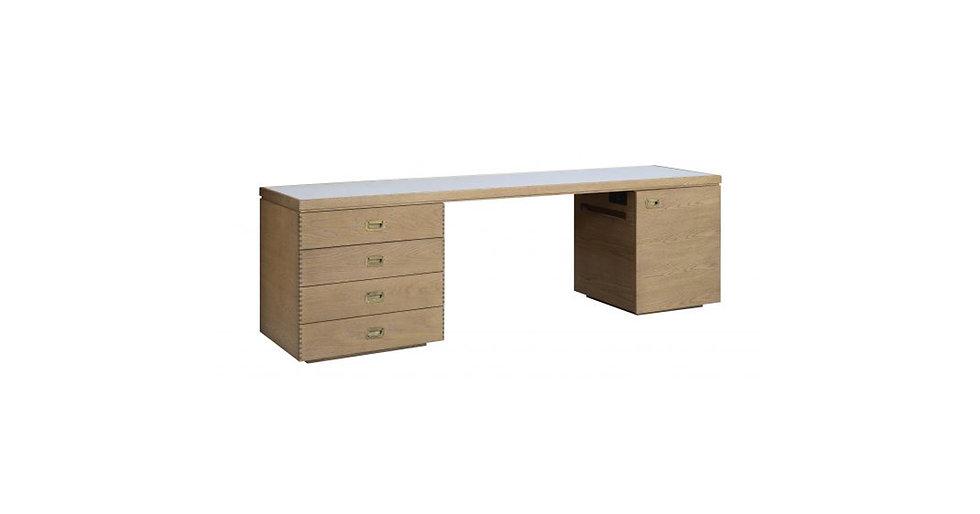 8440 - Right Facing Mini Fridge Cabinet/Desk/Chest