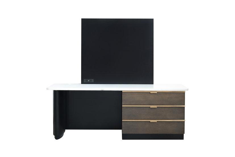 8788 - Desk Unit with TV Panel