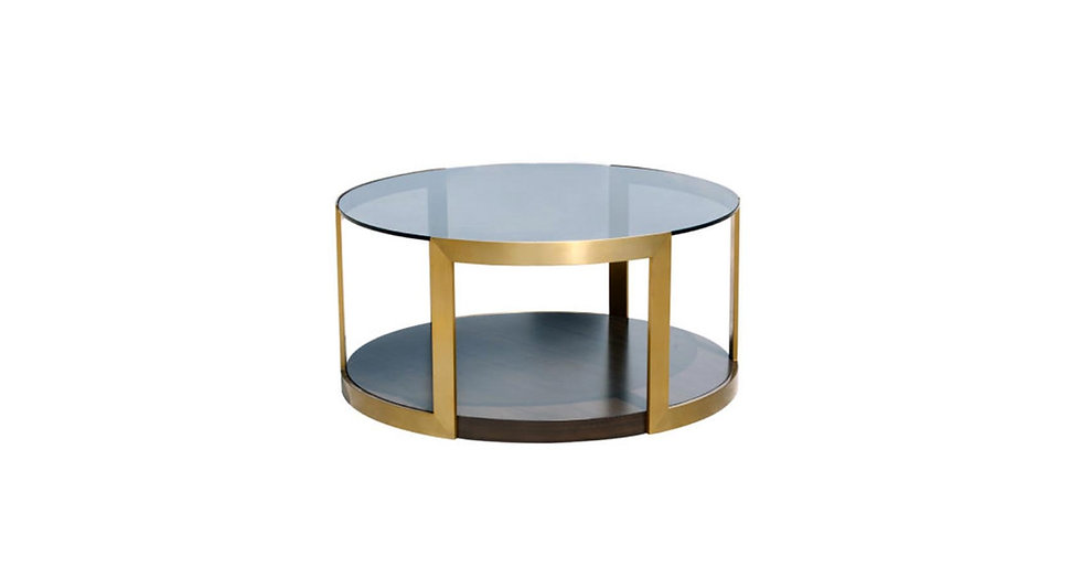 8678 - Custom Round Cocktail Table
