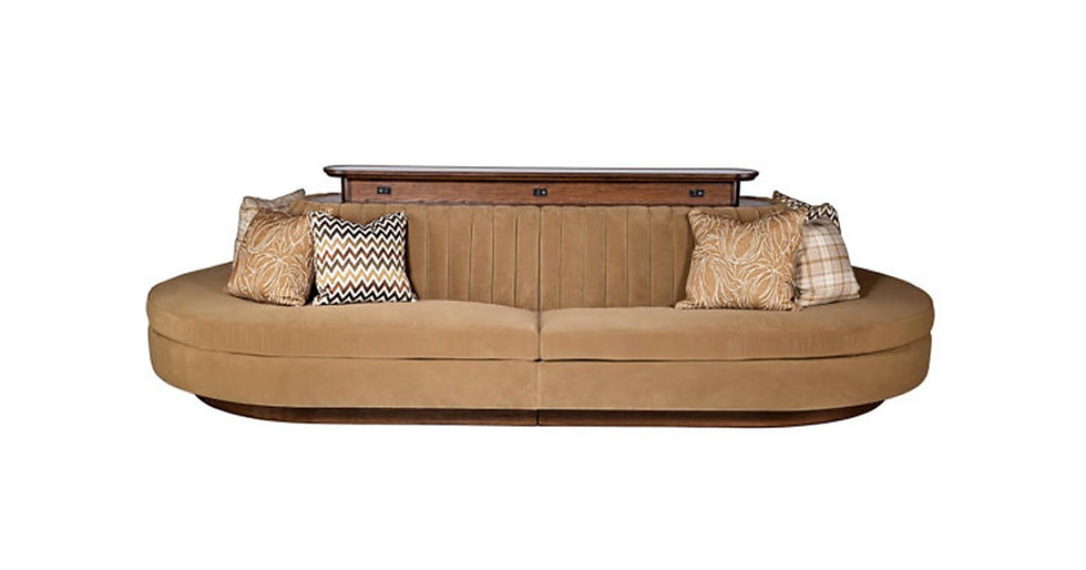 8729 - Oval Shaped Upholstered Banquette