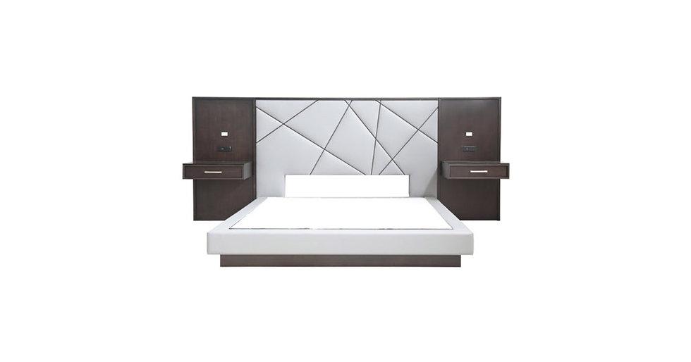 8619 - King Platform Bed With Nightstands