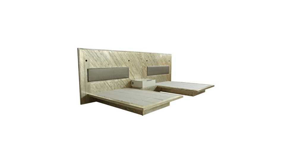 8583 - Double Queen Platform Bed
