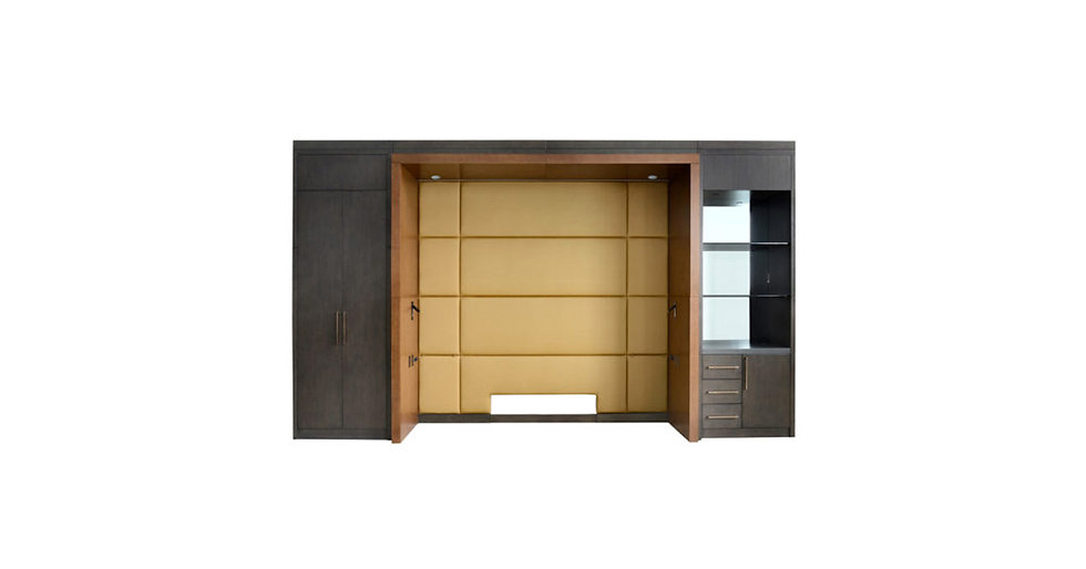 8721 - King Bed/Cabinet Wall Unit