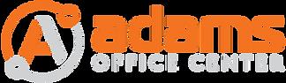 AdamsOfficeCenter_Logo_OrangeLtGray_Hori