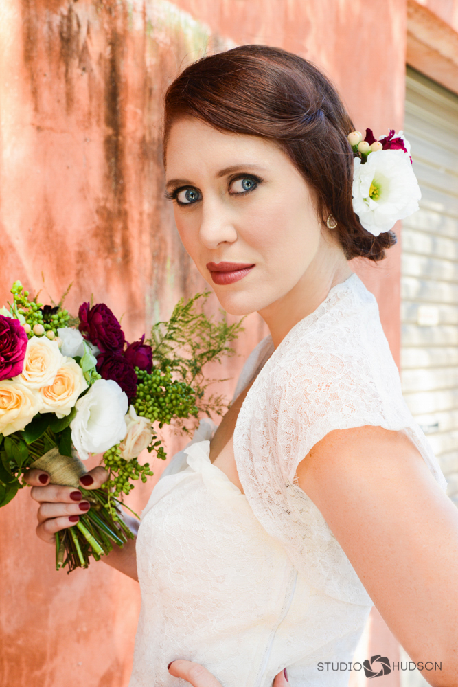 Belle Bridal Holding Bouquet