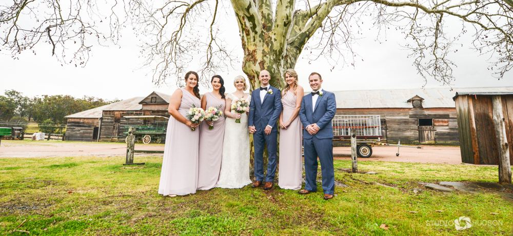 Bridal Party Farm Photo