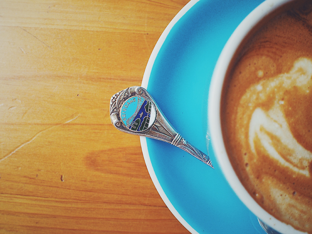 Coffee with Vintage Spoon
