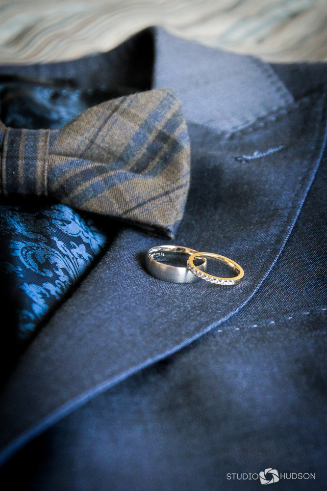 Wedding Rings on Suit Jacket