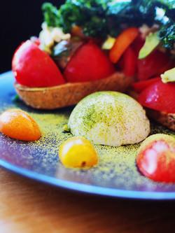 Toast with Vegan Eggs