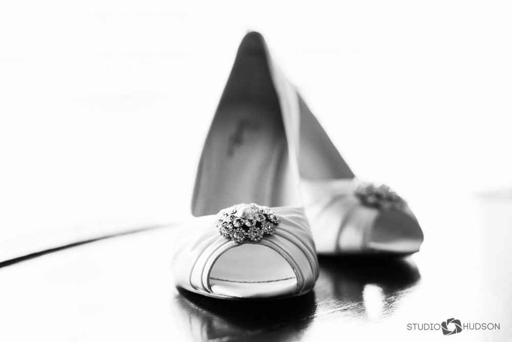 Bridal Shoes Black and White