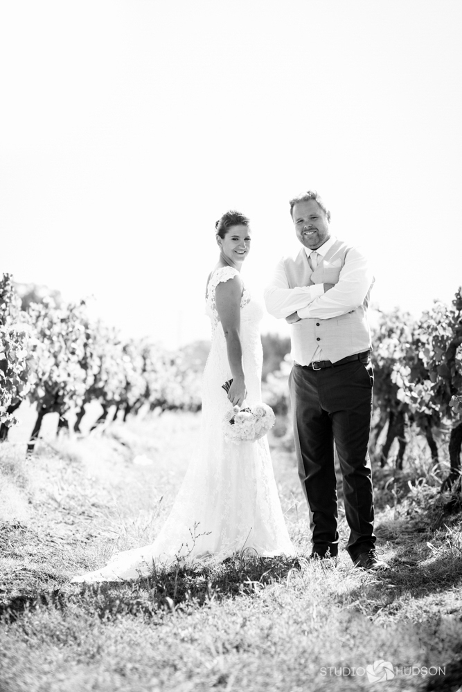 Wedding Vineyard Black and White
