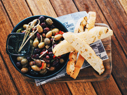 Marinated Olives with Turkish Bread