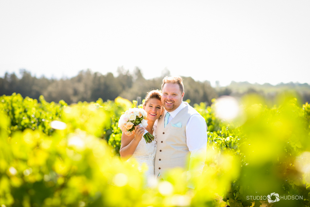 Bianca and Mike through the vineyard