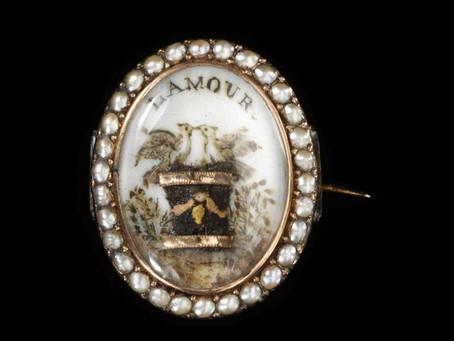 Romantic Words in Antique Jewelry