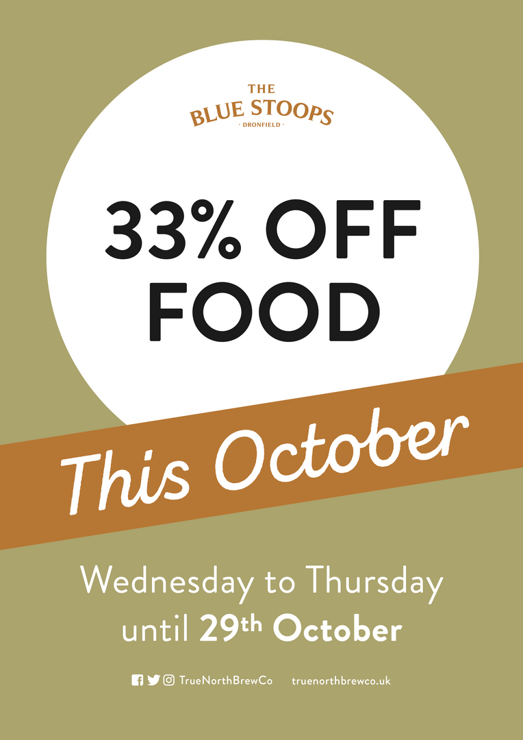 33% off food this October