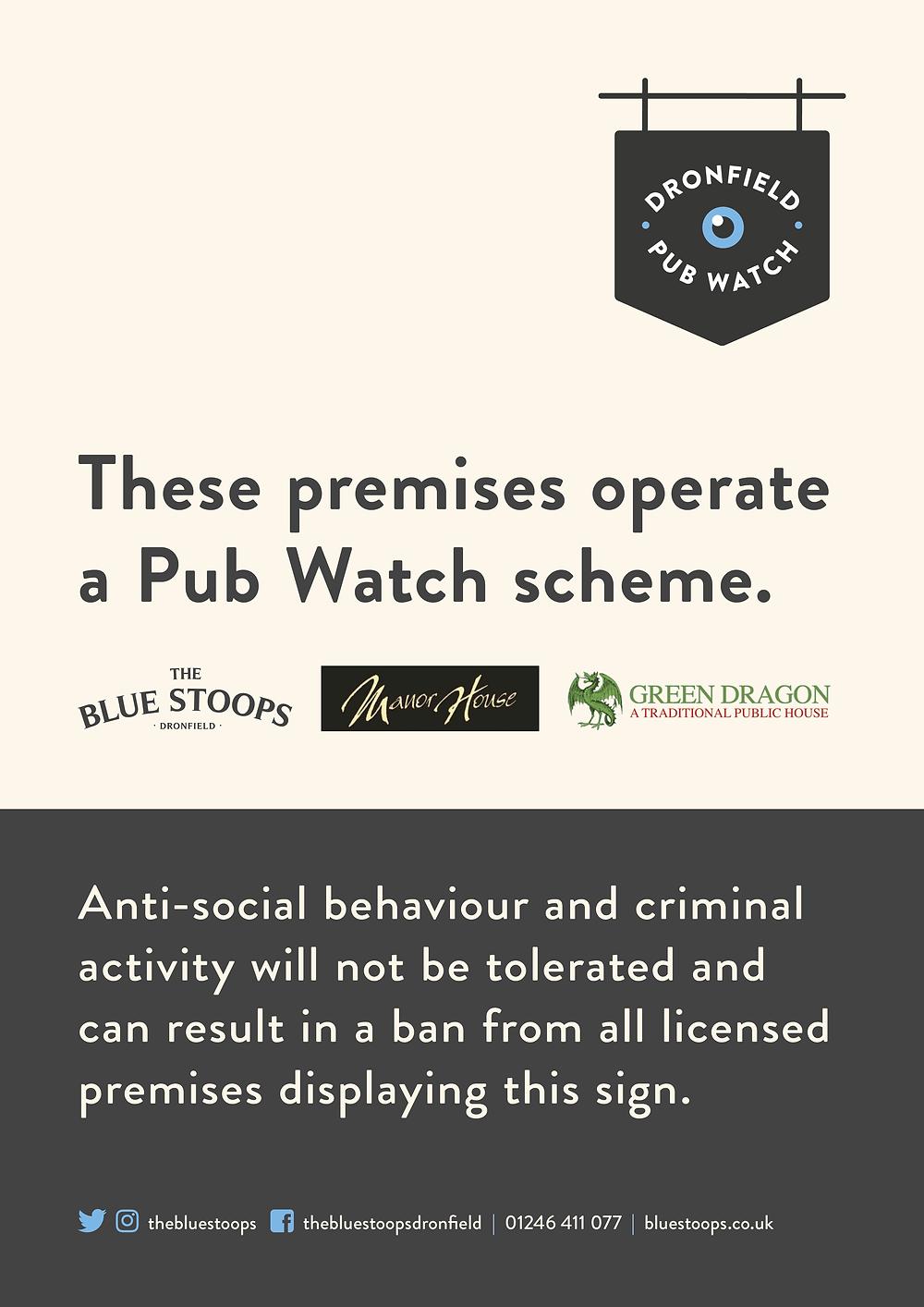 Dronfield Pub watch scheme