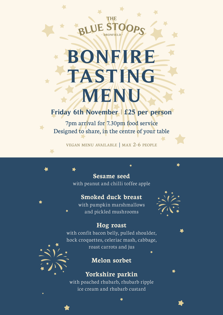 Bonfire Tasting Menu