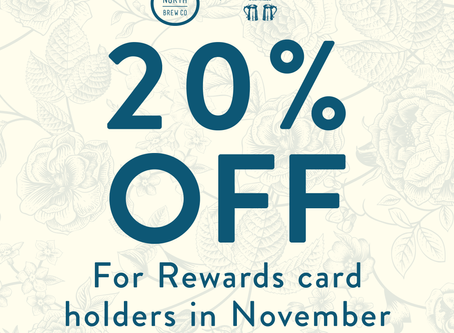 20% off in November at The Blue Stoops
