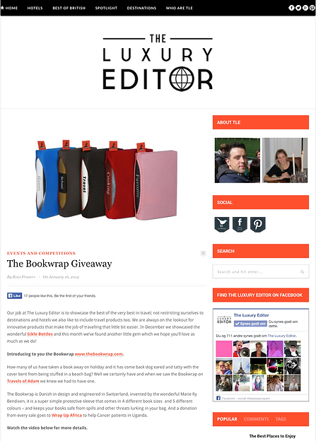 The Bookwrap in The Luxury Editor