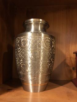 Engraved Platinum Urn