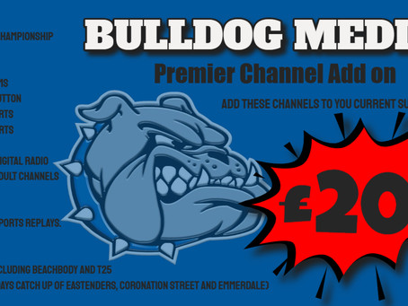 PREMIUM CHANNEL PACKAGE ADD ON.