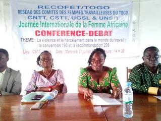 Journée de la femme africaine : La convention 190 et la recommandation 206 au cœur d'une conférence-