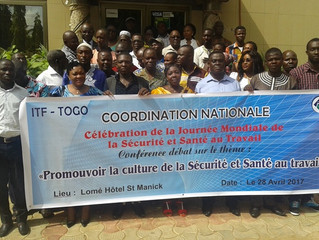 Sécurité et santé au Travail / les jeunes de la coordination ITF-Togo sensibilisées