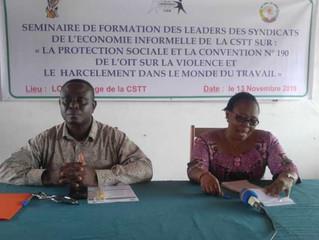 Les Responsables syndicaux de l'économie informelle formés sur la Protection Sociale