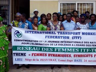 Les femmes de l'ITF-TOGO célèbrent la journée internationale des Nations-Unies pour l'éliminatio