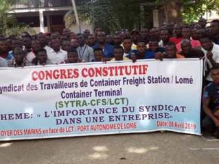 Les Travailleurs du Container Freight Station de Lomé Container Terminal se mettent en syndicat