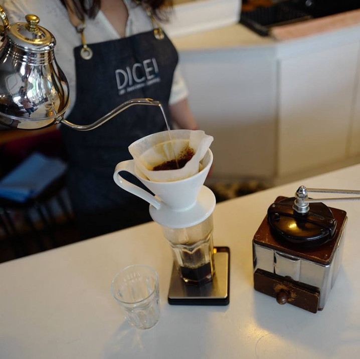 Drip Coffee at Dice! Cafe