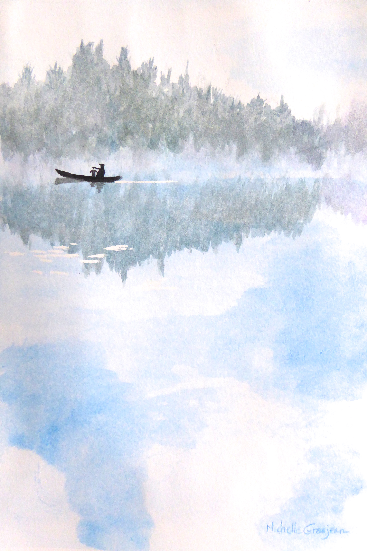 Paddling Through the Mist