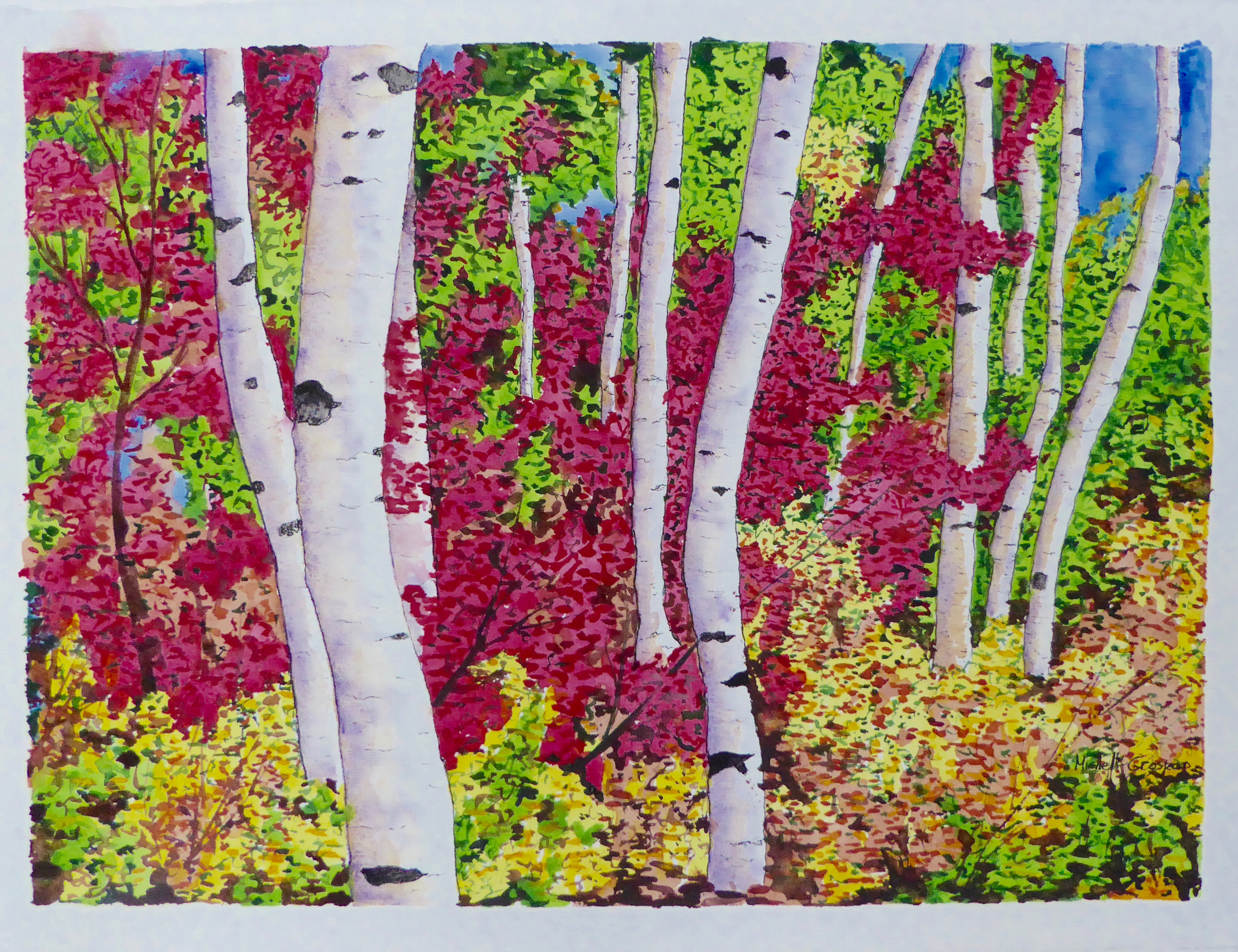 Faux Birches