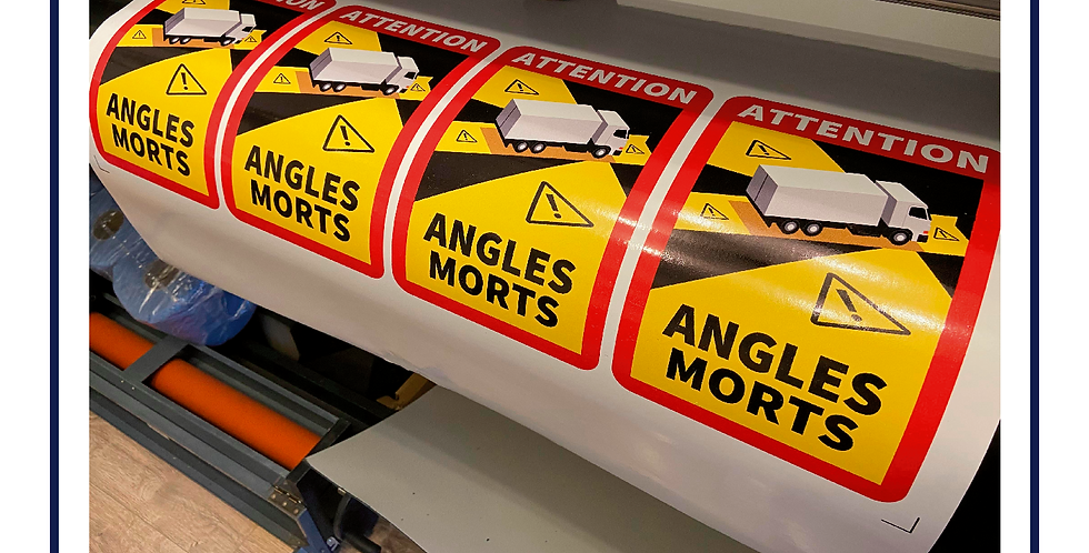 10x Multipack Angles Mortes Self Adhesive Graphic -Truck HGV