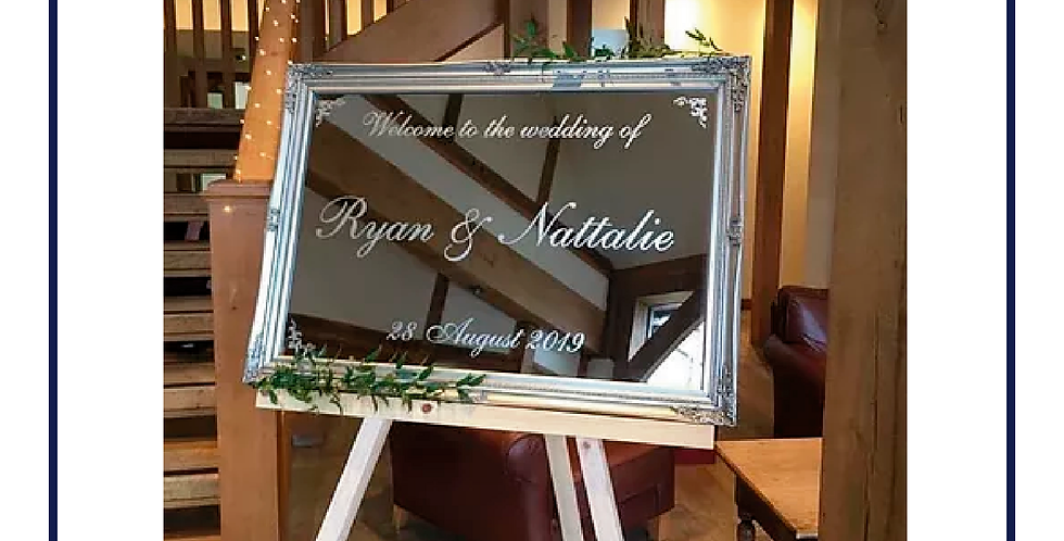 Personalised Wedding Reception Mirrors