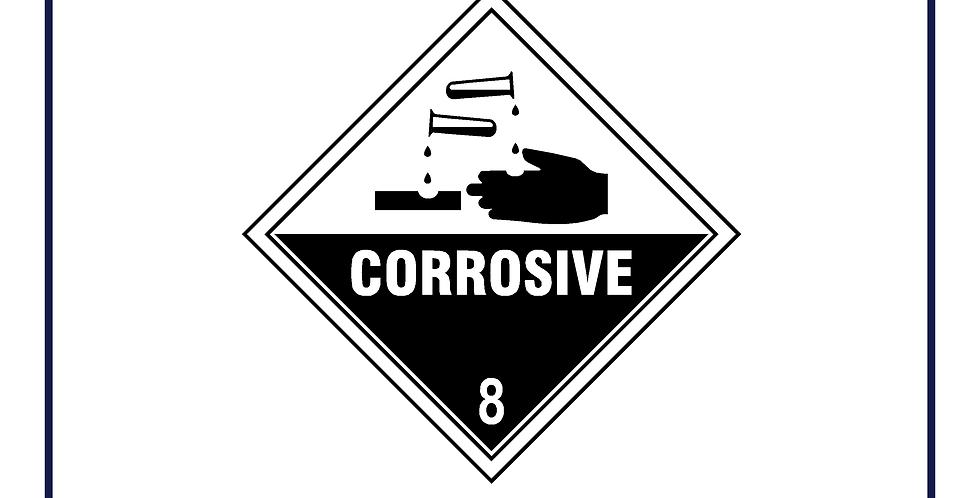 Dangerous substances -corrosive