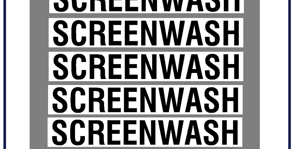 Screenwash Lettering Kit DVSA APPROVED - Pack of 5