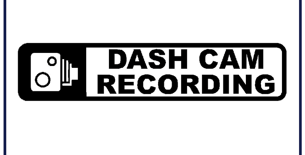 2x Dash Cam Recording Warning Sticker Self Adhesive 200mm X 45mm Pack of 5